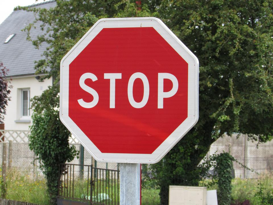 Stop, Road, Sign, Street, City
