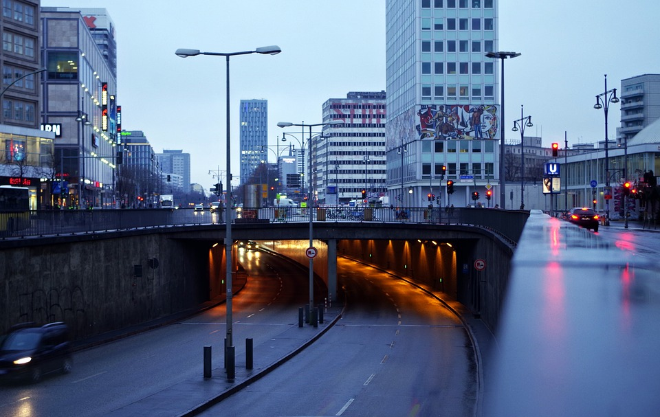 City, Traffic, Tunnel, Road, Downtown, Infrastructure