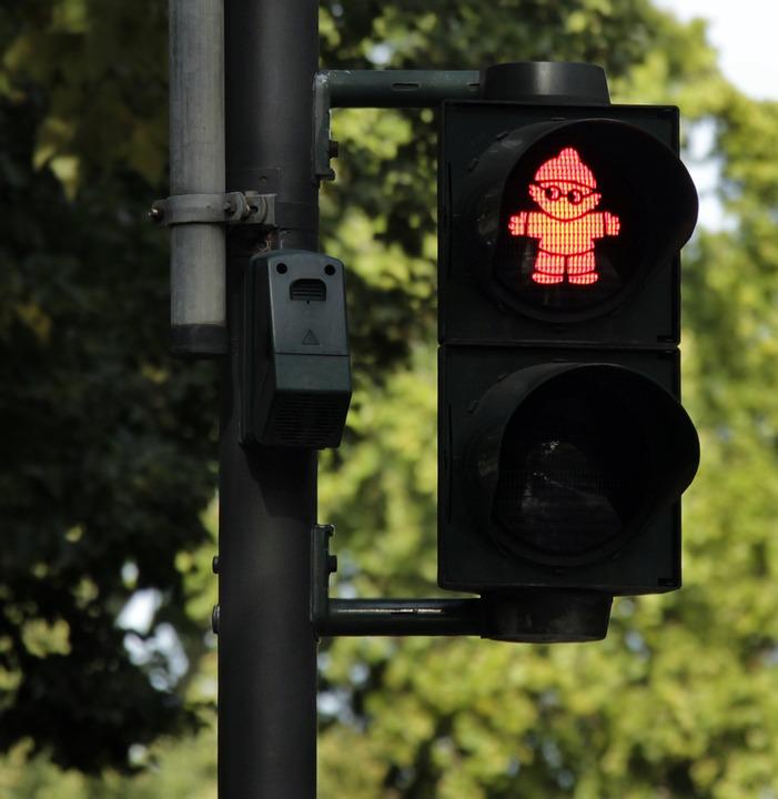 Traffic Lights, Traffic, Mainzelmännchen, Road