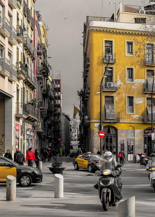 Street, Megalopolis, Road, City, Traffic, Motorcycle