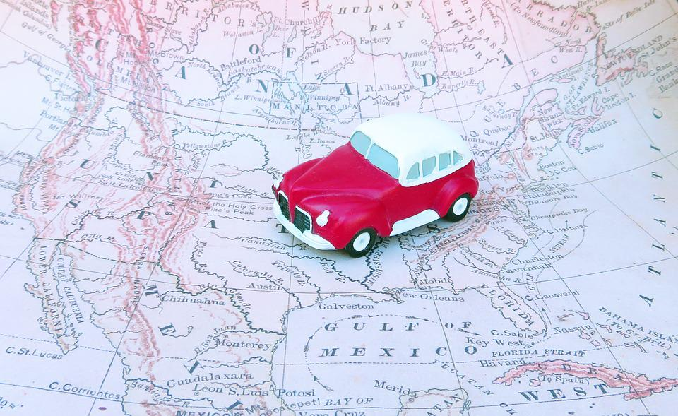 car trip road trip travel map journey vehicle