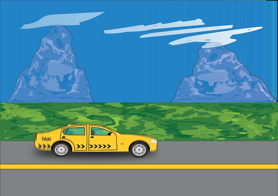 Car, Vehicle, Taxi, Road, Highway, Road Trip