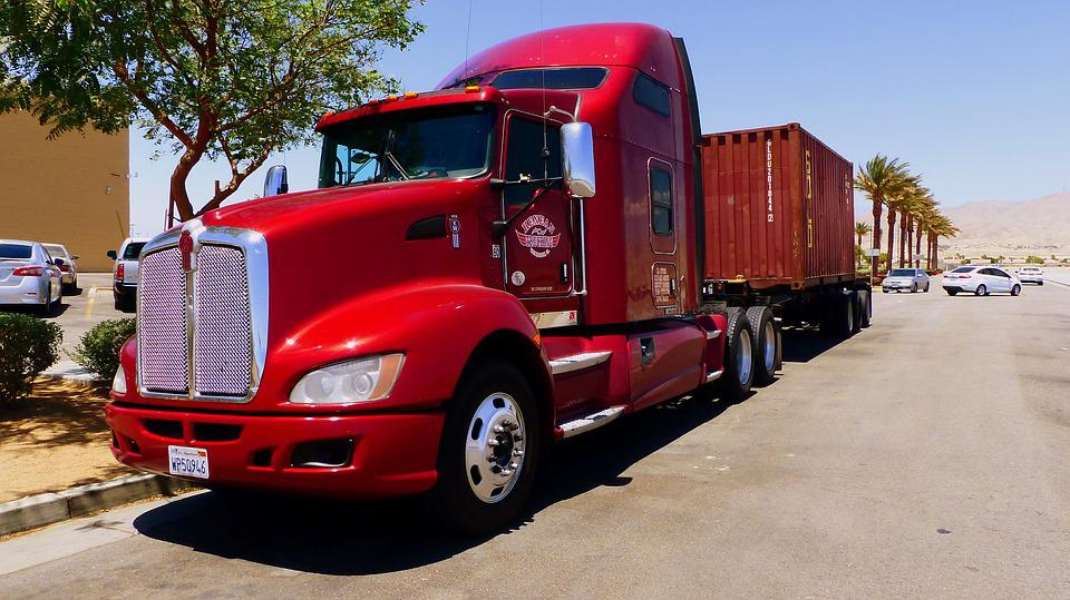 Truck, Transport, American, Vehicle, Road, Freight
