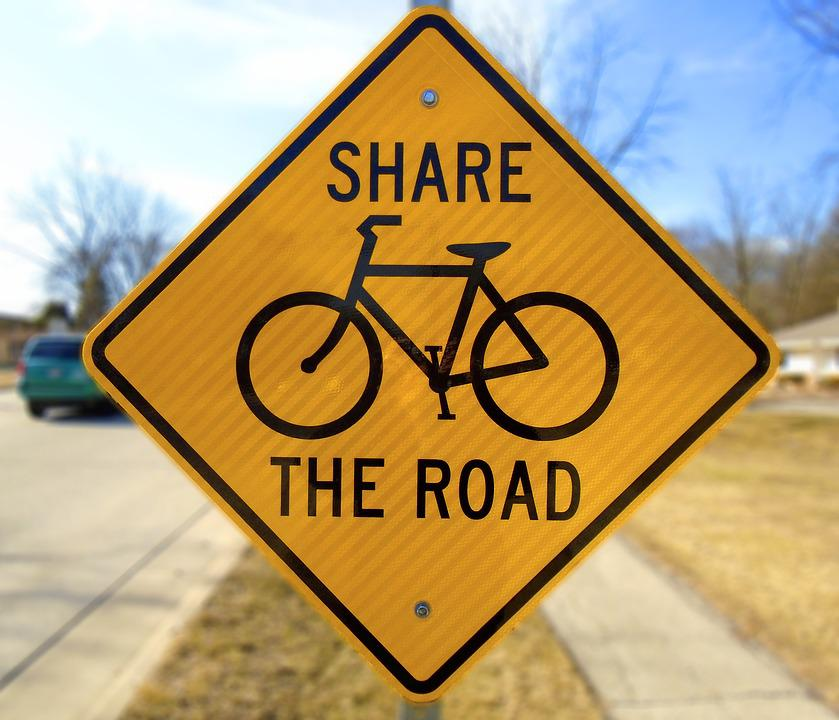 Warning, Traffic, Bicycle, Road, Danger, Sign, Triangle