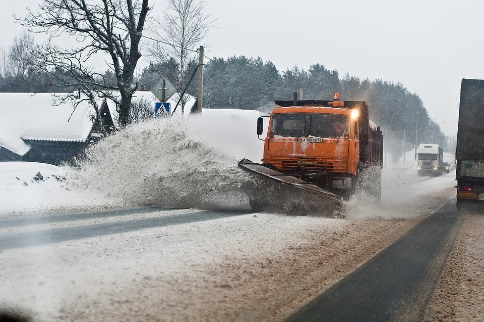Winter, Snow, Road, Dirt