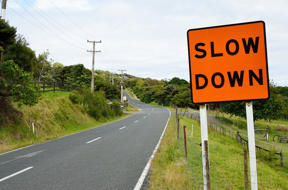 Road, Sign, Asphalt, Road Sign, Roadsign, Slow