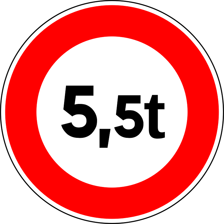Weight Limit, Sign, Road Sign, Roadsign, Traffic Sign
