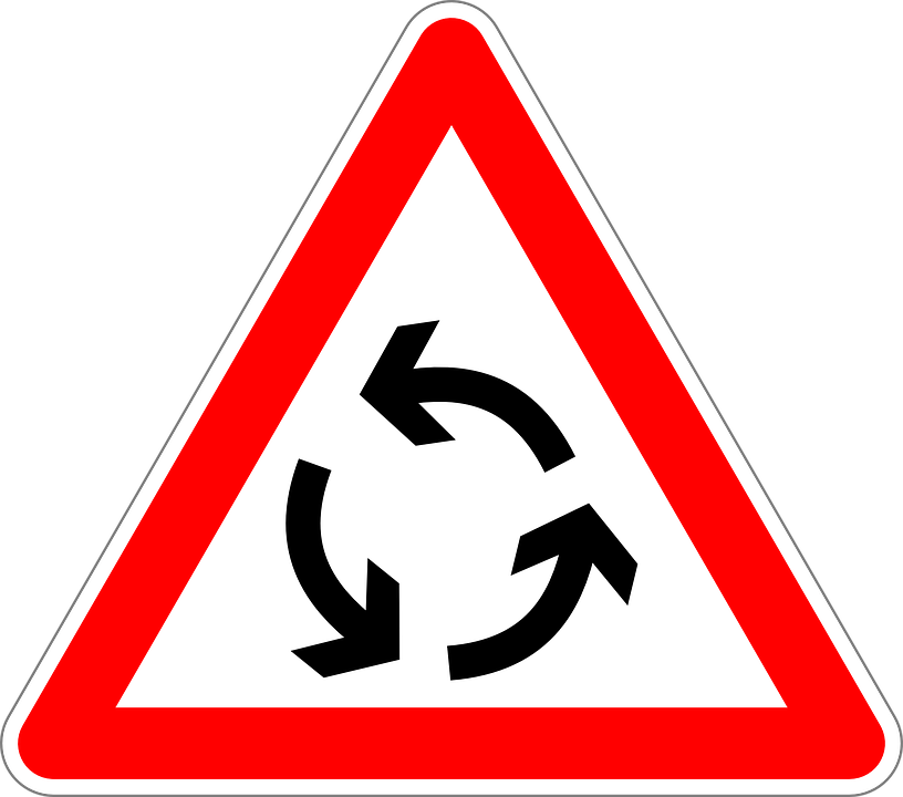 Roundabout, Traffic Sign, Sign, Road Sign, Roadsign