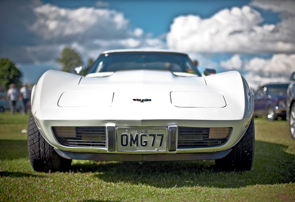 Corvette, Racing Car, Roadster, Sports Car, Vintage