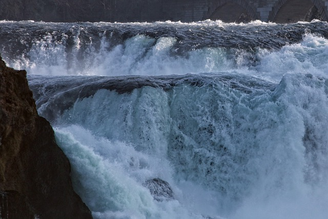 Rhine Falls, Water Mass, Roaring, Flood