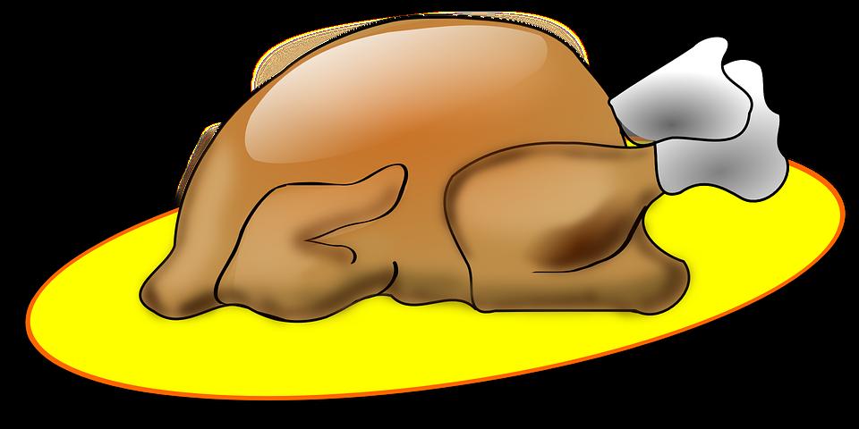 Turkey, Roast, Broiler, Food, Thanksgiving, Plate