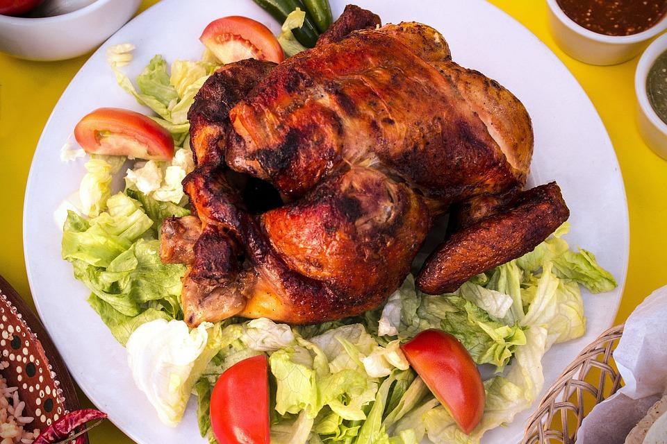 Chicken, Roasting, Food, Salad, Dish, Restaurant