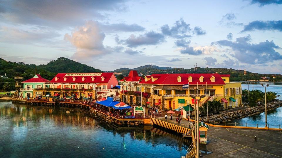 Roatan, Honduras, Port, Architecture, Tropical