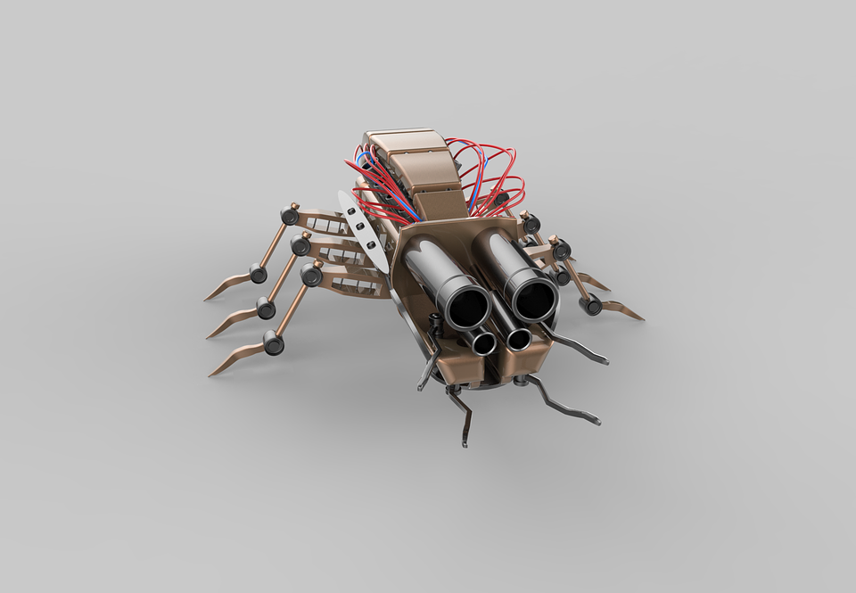 Insect, Robot, Bug, Mech, 3d, Animal, Cyborg, Future
