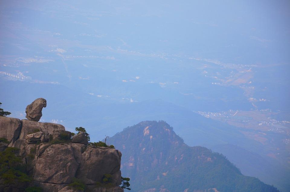 Mountain, Sky, Rock, Tourism, A Bird's Eye View