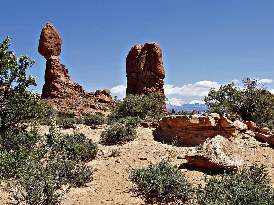 Balanced, Rock, Arches National Park, Utah, Rocks