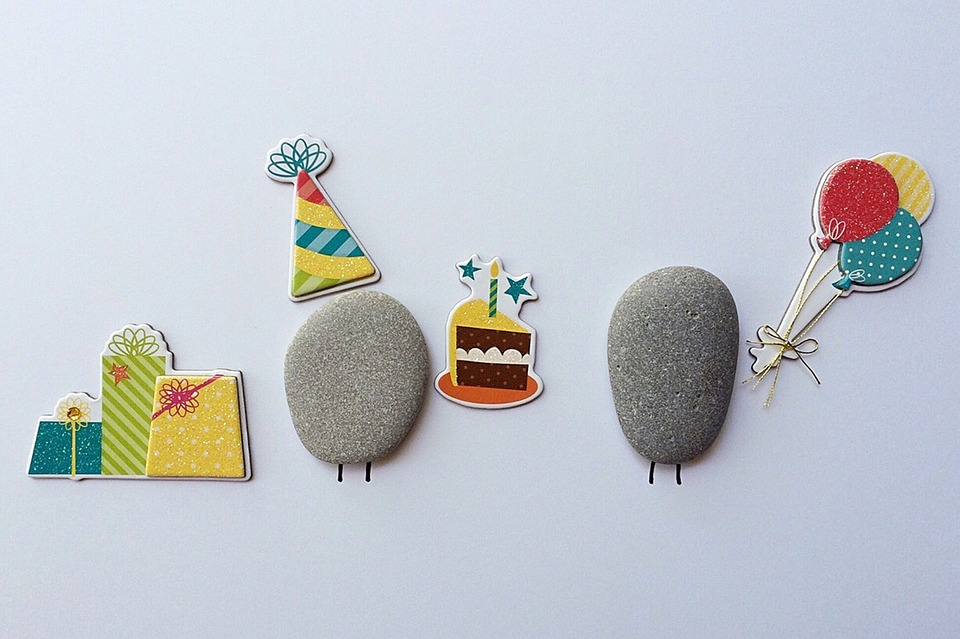 Birthday Party, Cake, Celebrate, Rock Art