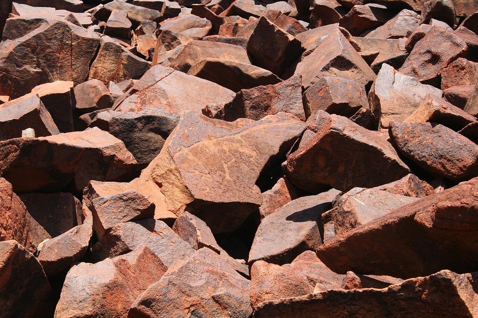 Boulders, Rocks, Red, Pilbara, Karratha, Rock Art