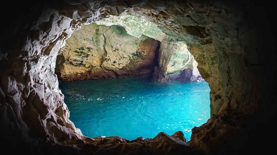 Israel, Kibbutz, Rosh Hanikra, Water, Cliff, Rock, Cave