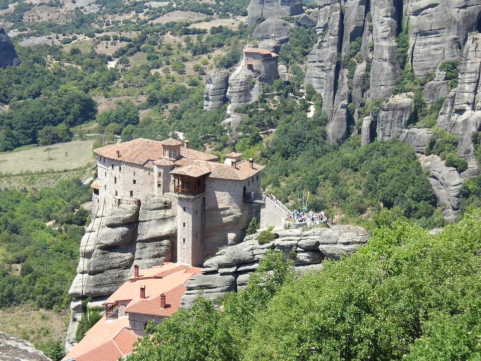 Meteora, Monastery, Rock, Cliff, Architecture