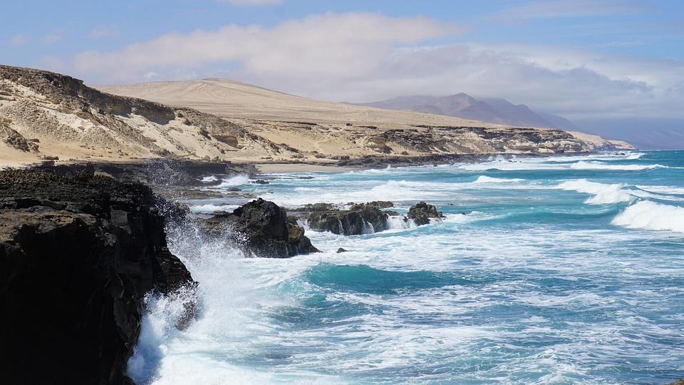 Wave, Sea, Ocean, Rock, Coast, Cliff, Salt Water, Windy