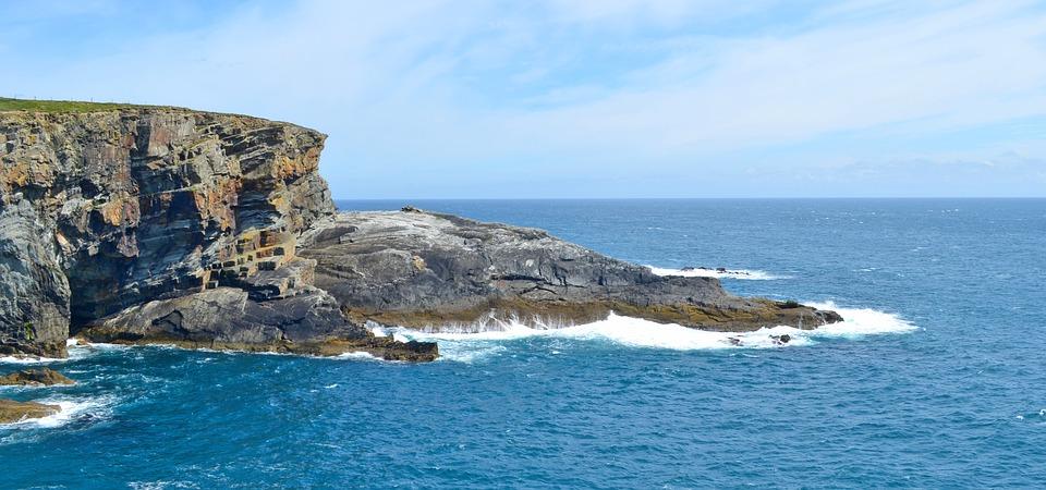 Cliff, Steilkueste, Cliffs, Rock, Sea, Steep Slope