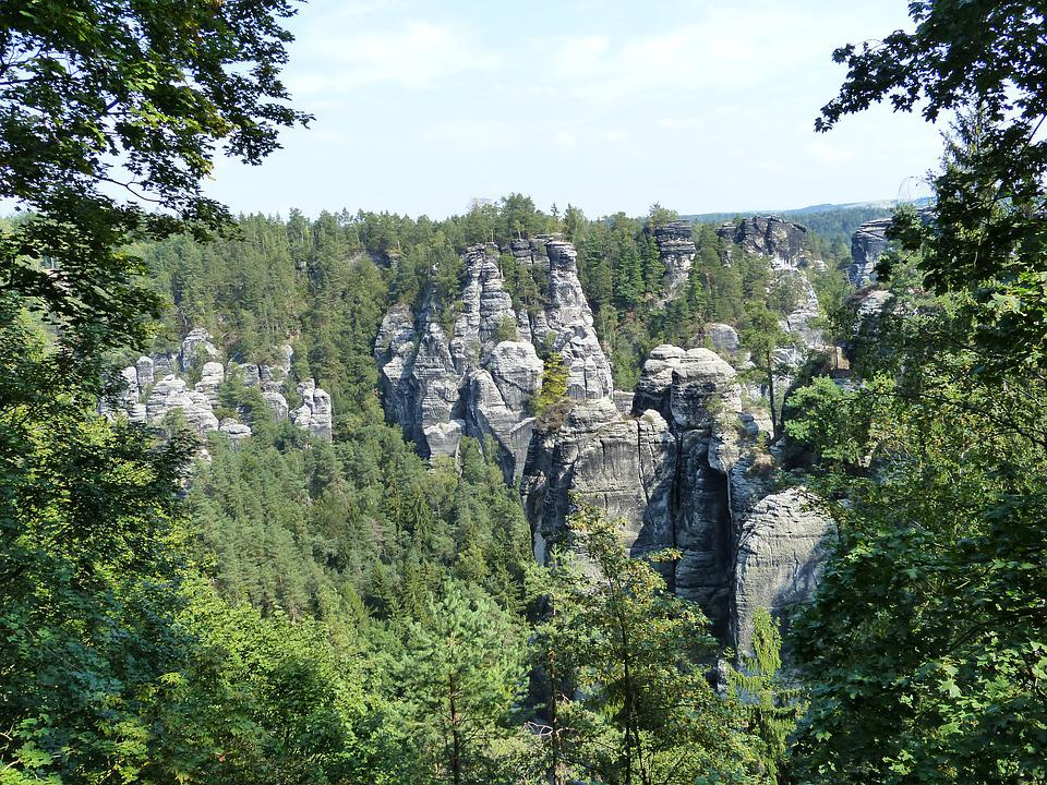Elbe Sandstone Mountains, Bastei, Elbe, Rock