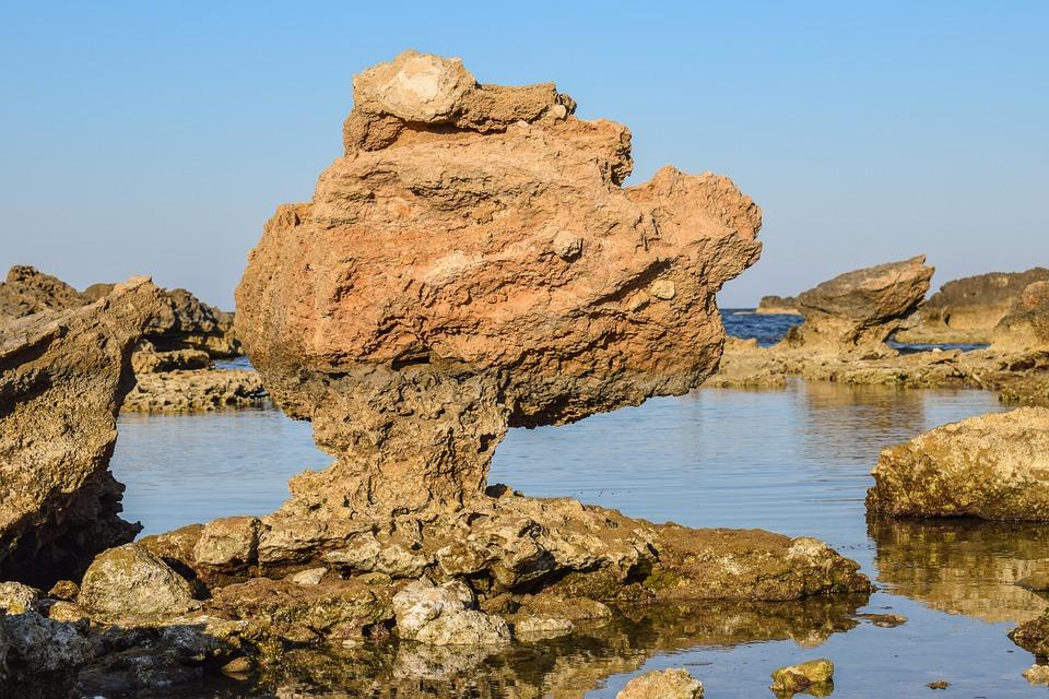 Rock, Rock Formation, Erosion, Landscape, Beach