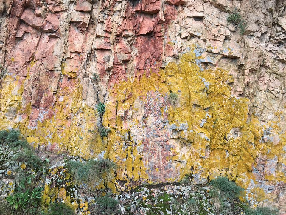Rock Wall, Rock Formation, Colorful Rocks