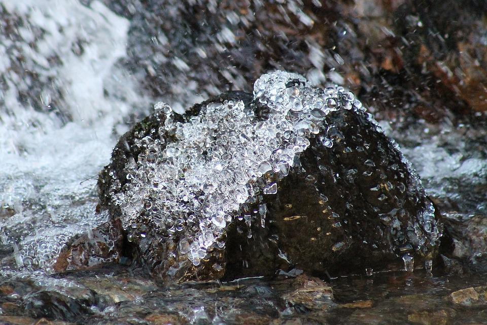 Nature, Frozen, Waters, Rock, Stone, Cold, Winter