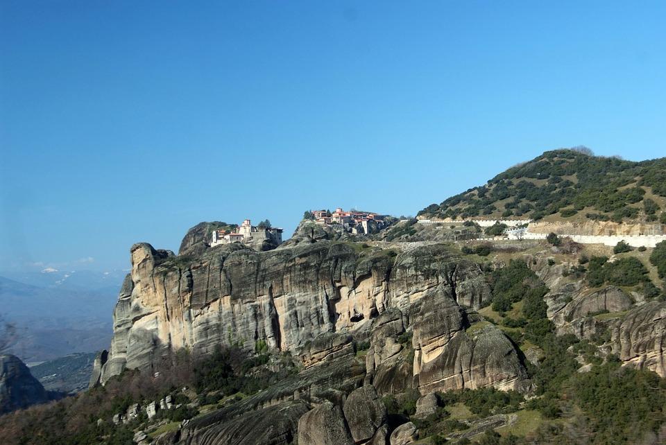 Monastery, Meteora, Greece, Rock, Orthodox, Kalambaka