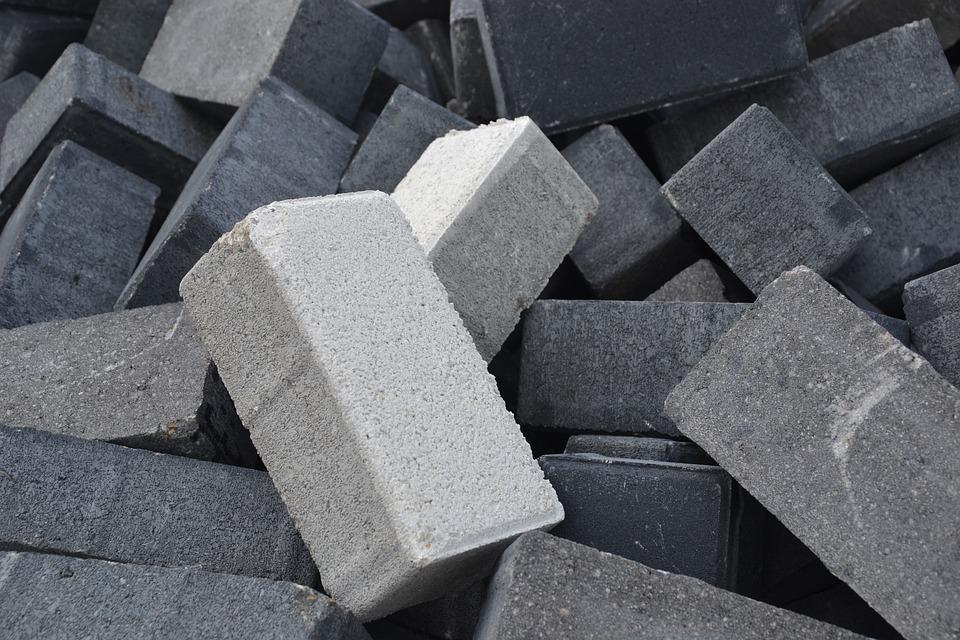 Bricks, Concrete, Rock, Stone, Industry, Block, Shape