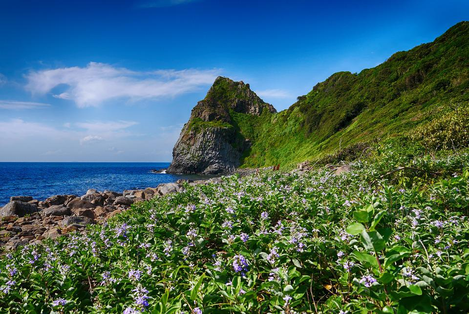 Coast, Rock, Itoshima, Irie, Seaside Green Space, Sky