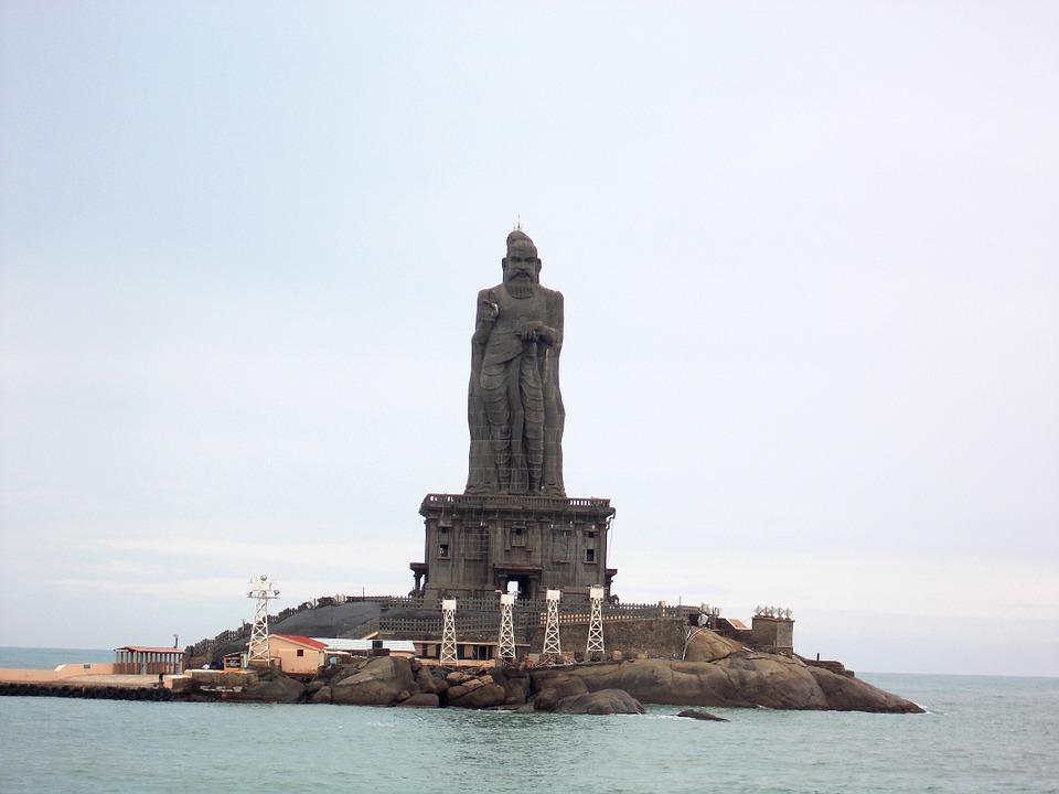 Thiruvalluvar Statue, Rock, Sculpture, Kanyakumari