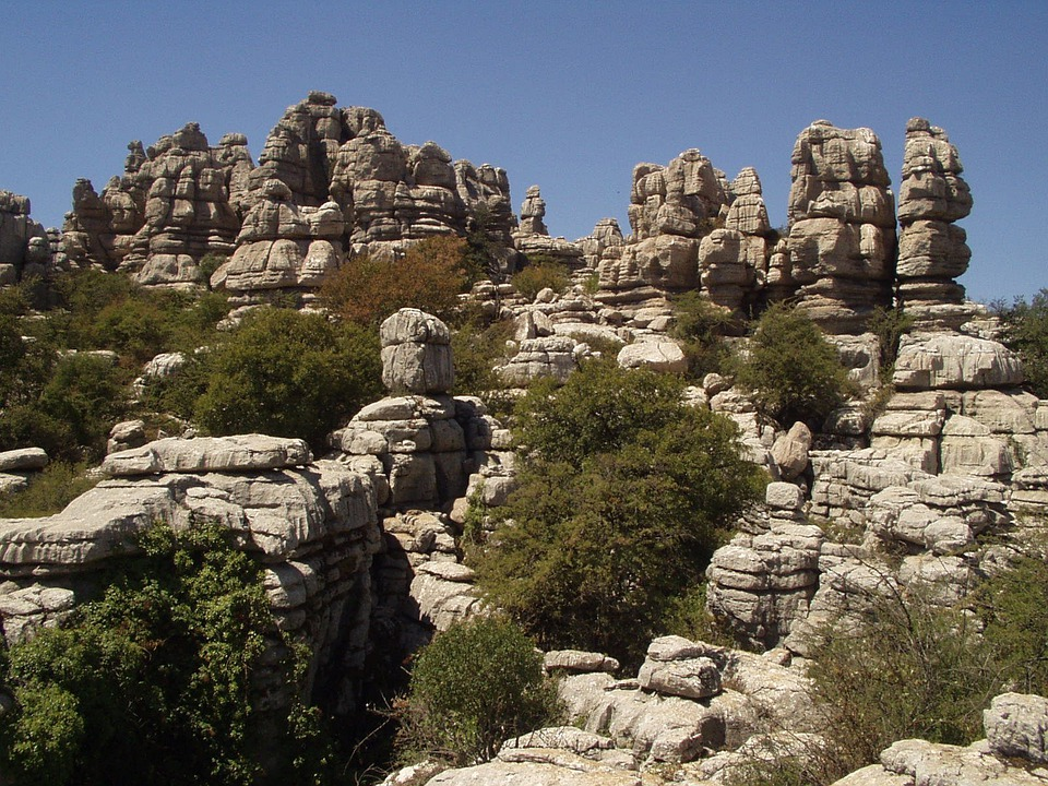 Rock, Stones, Labyrinth, Spain, Turret