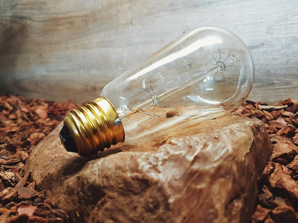 Bulb, Light, Spark, Lamp, Rock