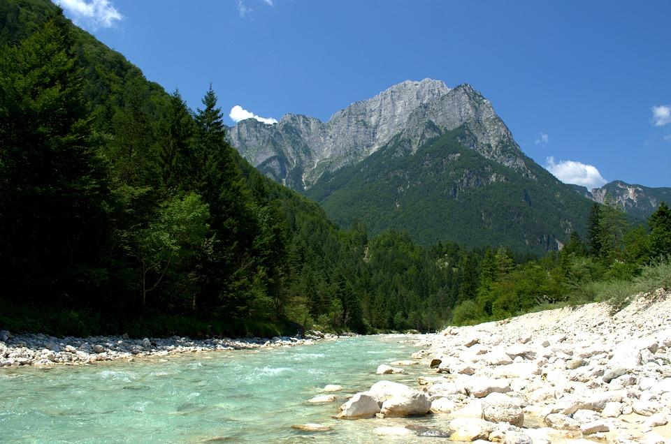 Mountains, Bach, Water, Nature, Landscape, River, Rock
