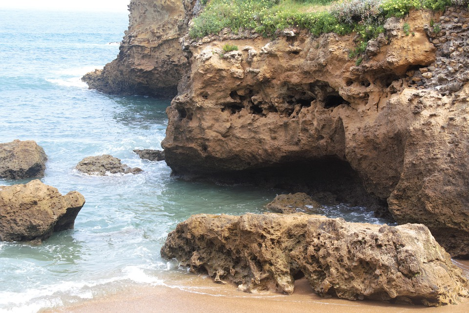 Coast, Beach, Rock, Nature, Landscape, Biarritz