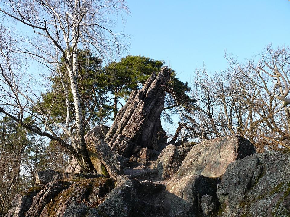 Hill, Rock, Stone, Czech Republic, Landscape