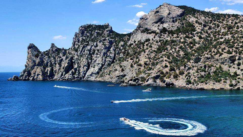 Rock, Landscape, Nature, Mountain, Sea, Coast, Water