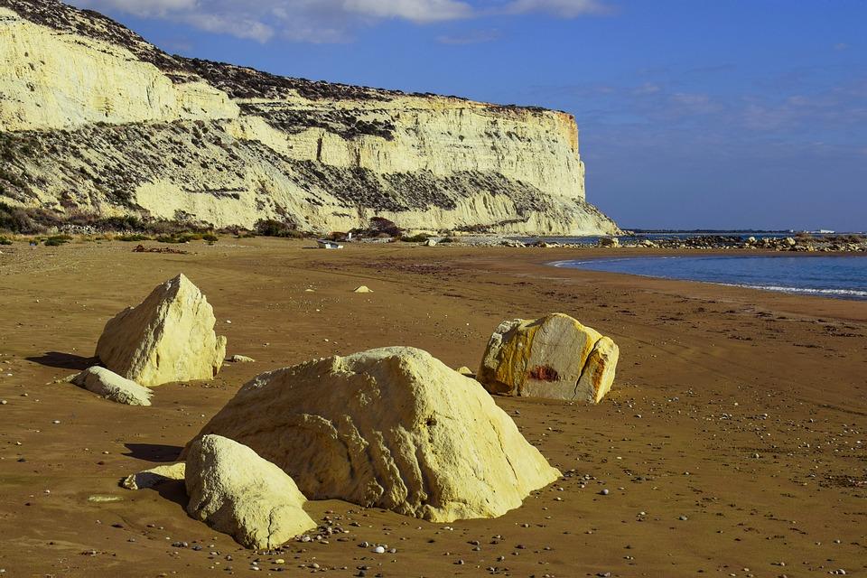 Beach, Cliffs, Sea, Coast, Rock, Landscape, Scenic