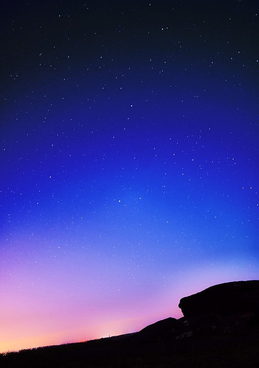 Night Sky Chart: Free photo Rock Landscape Sky Nature Night Night Sky - Max Pixel,Chart