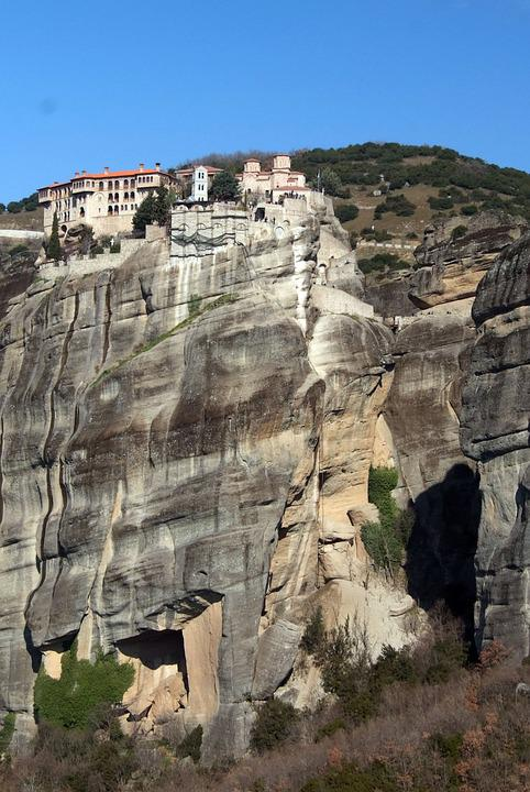 Meteora, Monastery, Greece, Rock