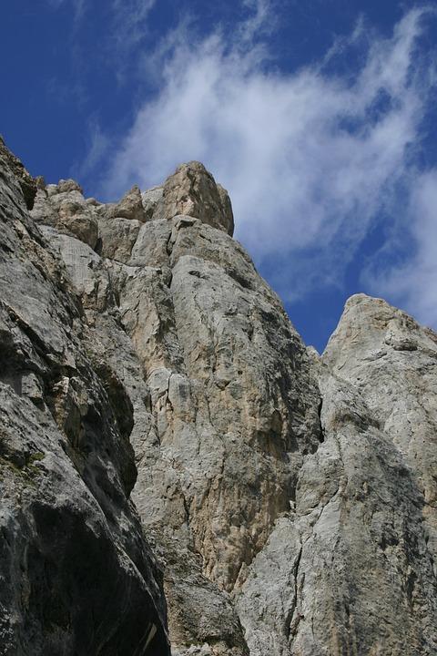 Dolomites, Rock, Nature, Mountain, Sky, Trentino