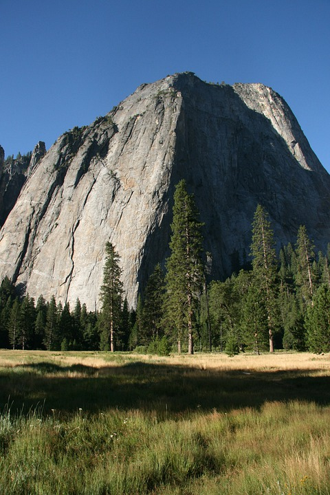 Yosemite, Mountains, Granite, Usa, Landscape, Rock