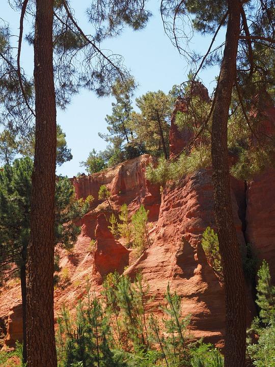 Ocher Rocks, Ocher, Ocher Quarry, Rock, Color, Bright