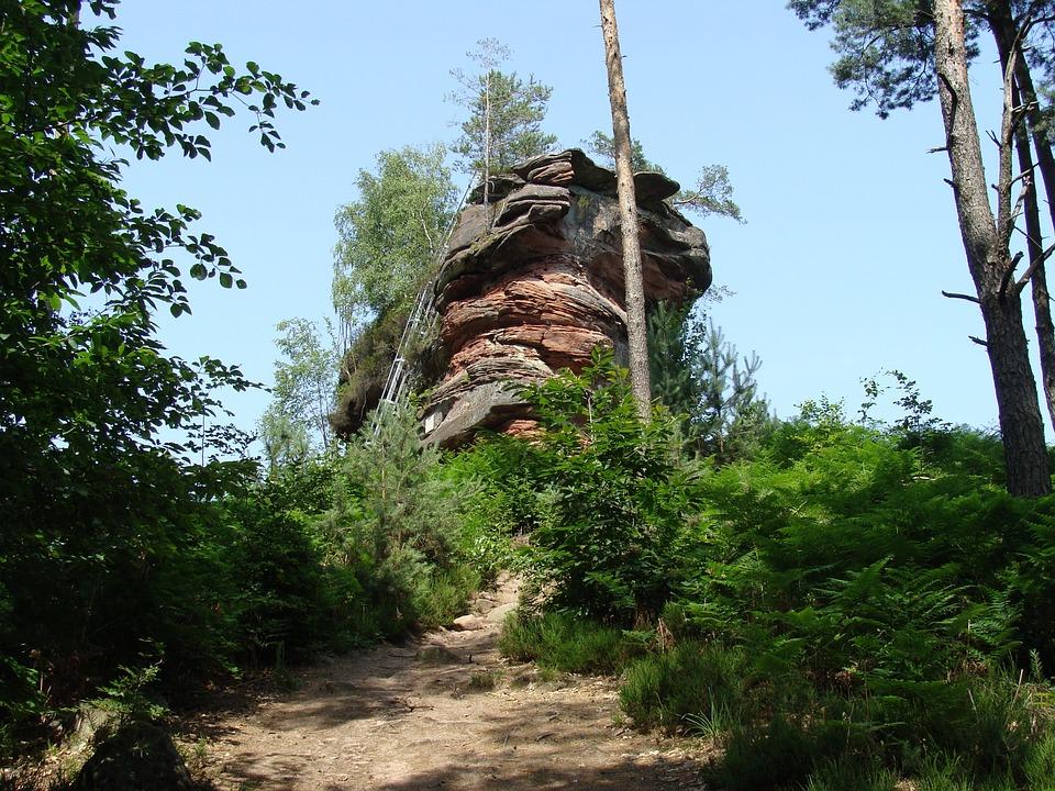 Pfälzerwald, Hühnerstein, Rock, Formation, Climbing