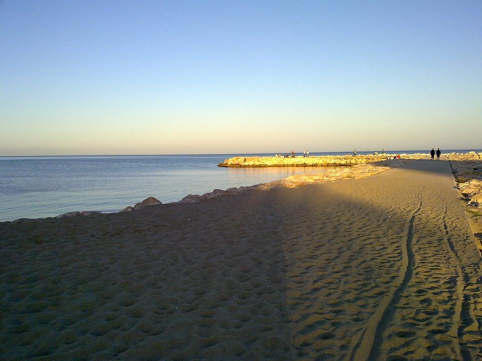 Sand, Port, Malaga, Fuengirola, Rock, Breakwater, Beach