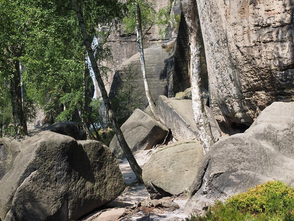 Rock, Rock Blocks, Frienstein, Elbe Sandstone, Hike