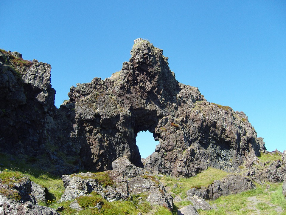Iceland, Rock, Goal, Stone Block, Rock Wall, Cliff
